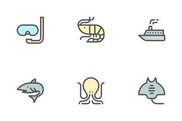 Ocean (Filled Outline) Icon Pack