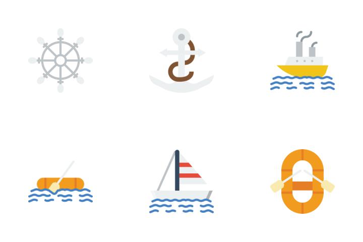 Ocean - Flat Icon Pack