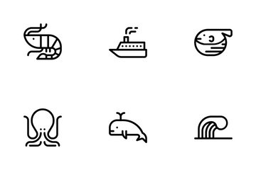 Ocean (outline) Icon Pack