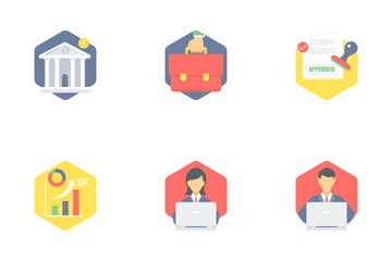 Office And Business Flat Part 1 Icon Pack