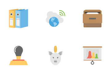 Office And Internet Flat Icons 1 Icon Pack