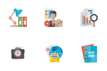 Office And Internet Flat Icons Icon Pack