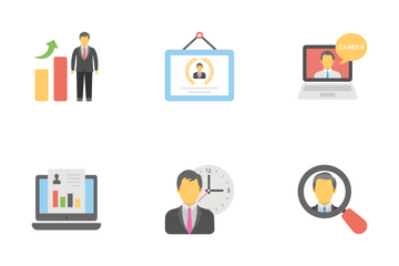 Office And Internet Flat Icons 3 Icon Pack