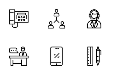 Office, Business And Management Icon Pack
