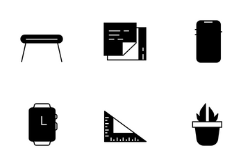 Office Desk Utility Icon Pack
