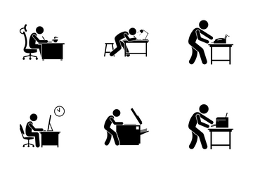 Office Employee Icon Pack