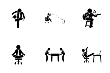 Office Fun Activities Icon Pack