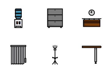 Office Furniture Icon Pack