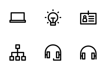 Office Outline Icon Pack