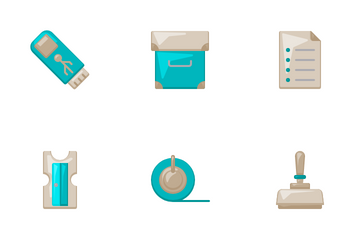 Office Supply Flat Icon Pack