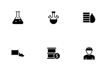 Offshore Oil And Gas Activity Icon Pack