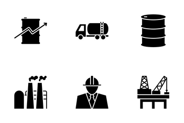 Oil And Petroleum Icon Pack