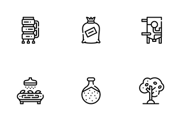 Oil Production Plant Icon Pack