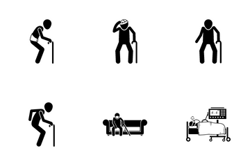 Old Man Pain Icon Pack