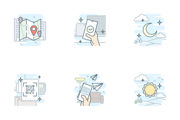 Onboarding Colored Outline Story Icon Pack