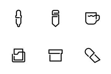One Line Office Icon Pack