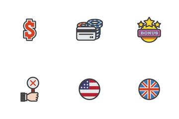 Online Casinos Icon Pack