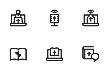 Online Church Icon Pack
