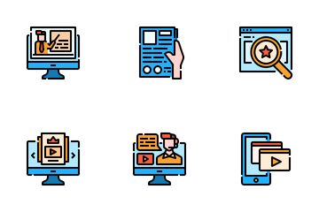 Online Course Icon Pack
