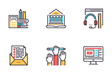 Online Education And E-learning Icon Pack