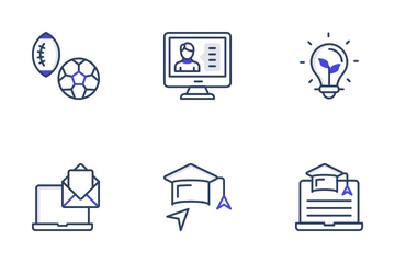 Online Education And Learning Icon Pack