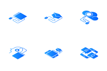 Online Education Isometric Icon Pack