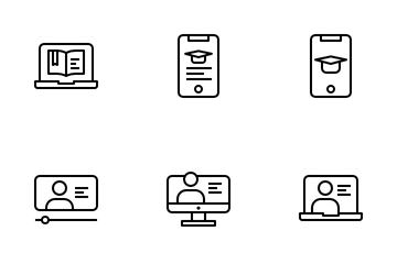 Online Learning Icon Pack