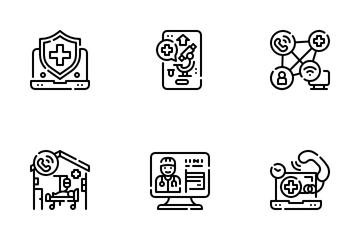Online Medicine Icon Pack
