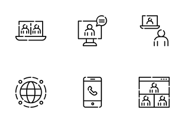 Online Meeting Icon Pack
