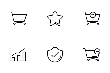 Online Shopping Outline Icon Pack