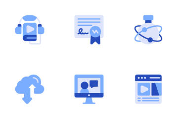 Online Study Icon Pack
