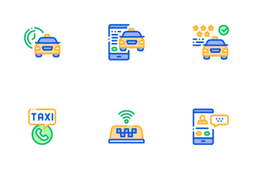 Online Taxi Icon Pack