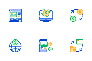 Online Transactions Icon Pack
