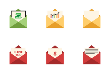 Open Envelope Icon Pack