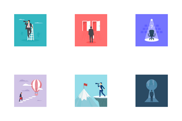 Opportunity And Virtual Reality  Icon Pack