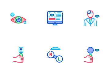Optometry Medical Aid Icon Pack