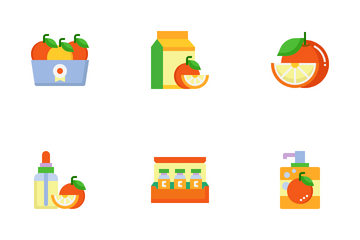 Orange Extract Products Icon Pack
