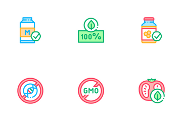 Organic Eco Foods Icon Pack