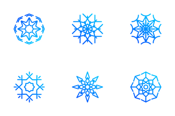 Ornamental Snowflakes Icon Pack