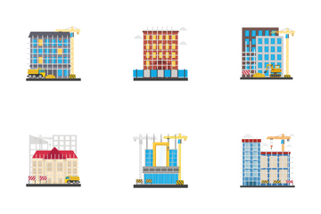 Orthogonal Buildings Icon Pack
