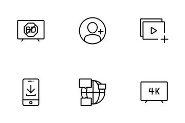 OTT Media Service Icon Pack