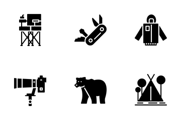 Outdoor And Camping Icon Pack