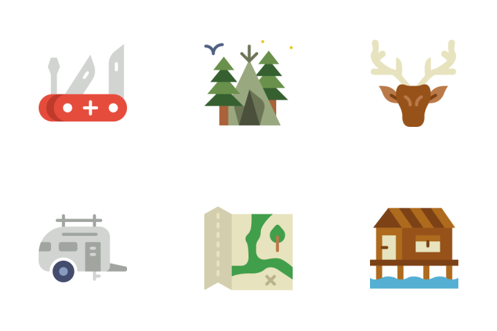 Outdoor - Flat Icon Pack