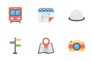 Outdoor Travel And Camping Flat Icons Icon Pack