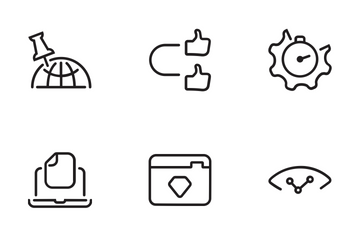 Outline : SEO And Web Development (Set 1) Icon Pack