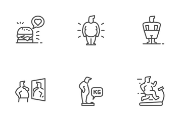 Overweight And Obesity Icon Pack