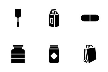 Packaging Disposable Tableware Icon Pack