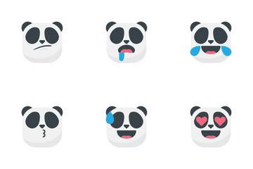 Panda Emojis Icon Pack