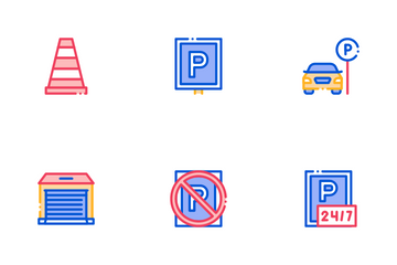 Parking Car Icon Pack