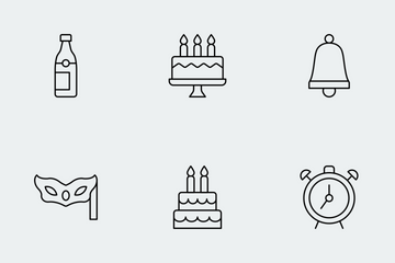 Party & Celebration Line Icon Pack